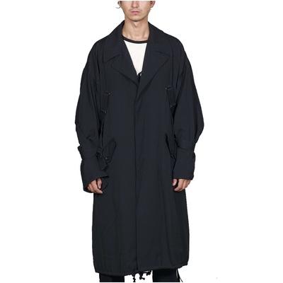 GAOSTUDIOS绑带宽松大衣男外套情侣廓形复古暗黑休闲大码女长风衣
