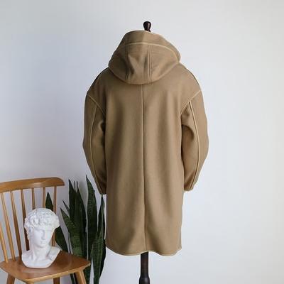 Người đàn ông có xương sống của Nhật Bản lỏng lẻo trùm đầu viền áo lót draping cắt áo len lông Áo len