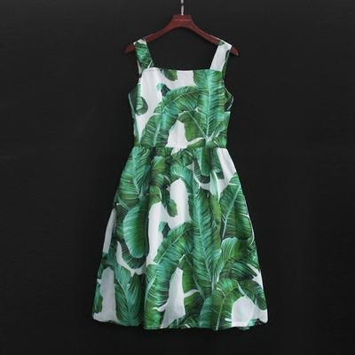女童吊带背心连衣裙亲子装母女装新款沙滩裙儿童无袖公主裙