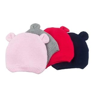 秋冬季婴儿帽子秋冬毛线帽