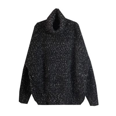 Ông Fang inch đôi mười hai mới mùa đông Hàn Quốc phiên bản của các chàng trai áo len màu thiết kế bat tay áo cao cổ áo len