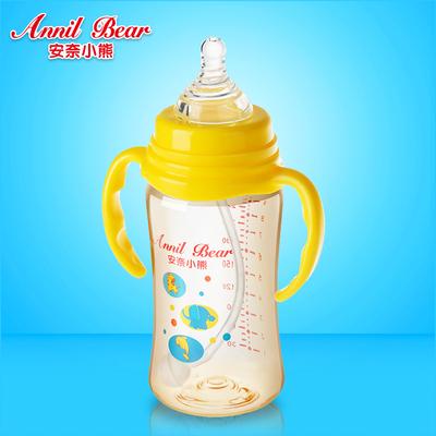 奶瓶PPSU耐摔宽口径正品300毫升大容量塑料奶瓶1-2-3岁宝宝吸管杯
